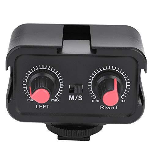 Broco WS-V2 2-Kanal-Universal-Mikrofon Audio Adapter Mixer mit 3,5-mm-Eingängen for DSLR-Kameras