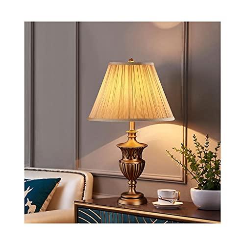 Lámparas de mesita de noche con tela de color beige Sombra de tela, Lámpara de mesa de noche moderna Lámparas de mesita de noche Retro Lámparas de mesa de 25 pulgadas para dormitorio, sala de estar Ta
