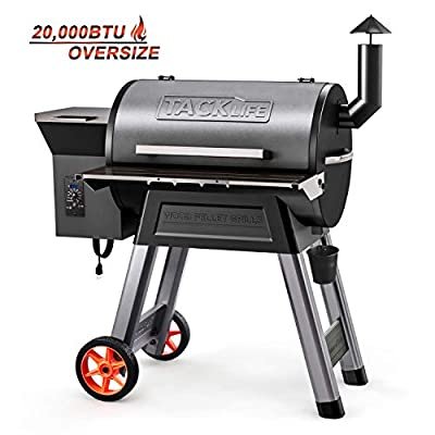 TACKLIFE Wood Pellet Grill and Smoker, Multi-Function Cooking Combination, Automatic Pellet Delivery