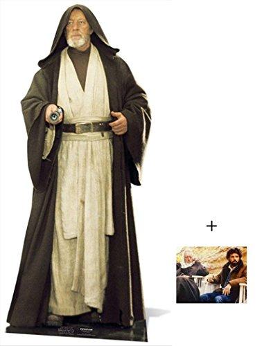 BundleZ-4-FanZ Fan Packs Obi-Wan Kenobi ALEC Guinness Star Wars Lifesize Lebensgrosse Pappfiguren/Stehplatzinhaber/Aufsteller - Enthält 8X10 (25X20Cm) starfoto