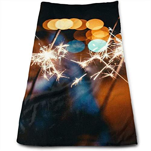 ALPHNJ Wunderkerzen personalisierte 30 * 70cm weiche große Handtücher für Badezimmer, Strand