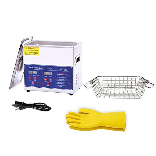 Ultrasonic Cleaner 3L for Cleaning Carbs Jewelry Injectors Bullets Guns and Brass Heated Professional Ultrasonic Cleaning Machine 110V