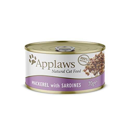 Applaws Katze Dose Makrele & Sardine, 24er Pack (24 x 70 g)