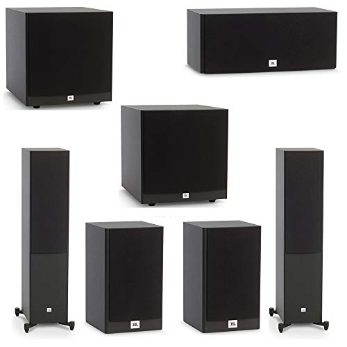 New JBL 5.2 System with 2 JBL Stage A180 Floorstanding Speakers, 1 JBL Stage A125C Center Speaker, 2...