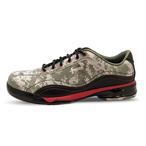 Hammer Mens Force Performance Bowling Shoes Camo/Red- Right Hand 12 M US