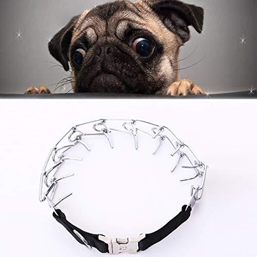 XGQ Pet Dogs Collar de Metal Cadena Ajustable Perros de Entrenamiento específicos Collar de Cadena, Tamaño: 4.0 mm * 60 cm