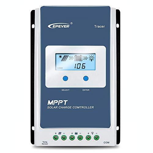 EPEVER 20A MPPT Solarladeregler 12 V / 24 V Auto 20 A Negativ geerdeter Solarpanel-Laderegler MPPT Max. Eingangsspannung 100 V, 260 W / 520 W