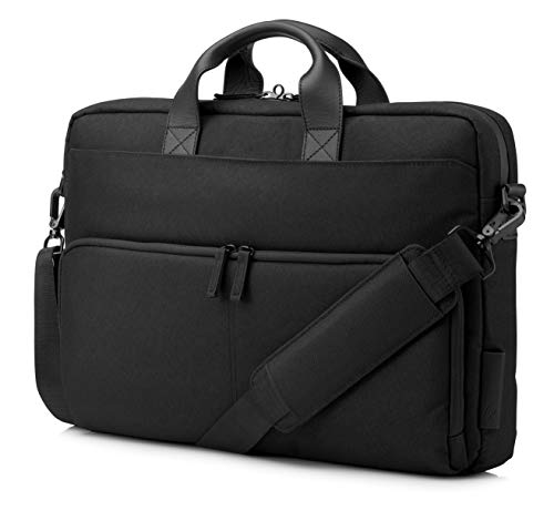 HP - PC Envy Urban Shoulder Bag for Notebooks up to 15.6', Padded Compartment, Optimal Pocket for Locking RFID Readers, Heavy Duty Fabrics and Zippers, Waterproof Fabric, Black