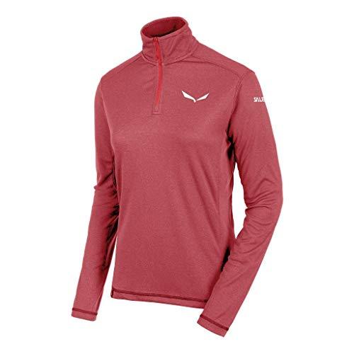 Salewa Agner PTC W L/S Hz Tee - T-Shirt à Manches Longues pour Femme, Couleur Rouge, Taille 46/40