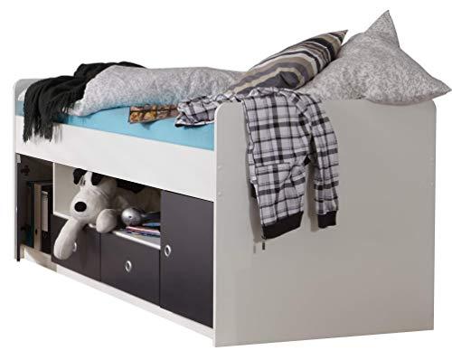 Wimex Bett/ Funktionsbett Rocco, 2 Schubladen, 2 Türen, Liegefläche 90 x 200 cm, Mehrfarbig