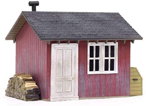 Feste Arbeitswood Woodland Szenische Fläche Gartenschuppen und Fenstergarten-Garten-Miniatur,Multicolored