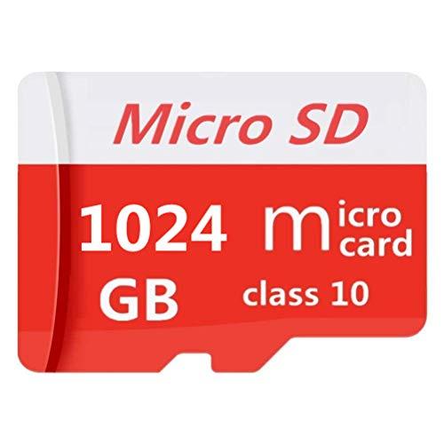 Scheda di memoria Micro SD SDXC, 64 GB, 128 GB, 256 GB, 400 GB, 512 GB, 1024 GB, classe 10 ad alta velocità, con adattatore micro SD (1024gb)
