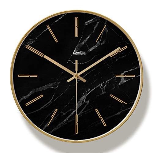 YJSMXYD Wanduhren Moderne Silent Clocks Marmor Einfache Dekorative Kreative Nordic Moderne Marmor Metall Uhr Für Wohnzimmer Küche Büro Schlafzimmer