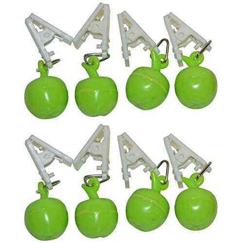 all-aro&24 Tischdeckenbeschwerer Tischtuchbeschwerer Tischdeckenklammer Tischdeckenhalter (8 Stück - Apfel)