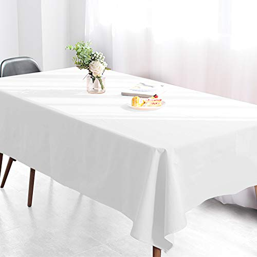 Wimaha 52x70In Solid White Rectangle Tablecloth Rectangular Table, Fabric Table Cloth, Polyester Table Linens Home Kitchen Picnic as well as Wedding Party Event Supplies