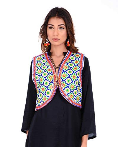 Craft Trade Women's Cotton Handmade Traditional Embroiderd Long Kutchi Jacket(Fits...