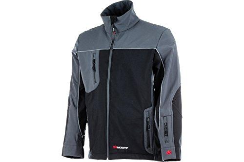 WÜRTH MODYF Premium Softshelljacke: Die Jacke kann in die System-Regenjacke eingezippt Werden. Die Jacke ist in M & schwarz grau verfügbar.