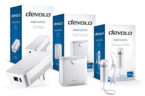 devolo Home Control Wassermelder-Paket (Smarthome Einsteigerpaket, Z-Wave, Haussteuerung per iOS/Android App, einfache Installation, enthält: Zentrale, Alarmsirene und Wassermelder) weiß - 2