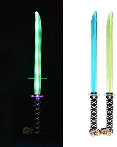 Toi-Toys Ninja Laserschwert 12340Z inkl.Batterie Karneval Fasching Kinder Kostüm Leuchtschwert Schwert mit Geräusch Samurai Kämpfer Wars