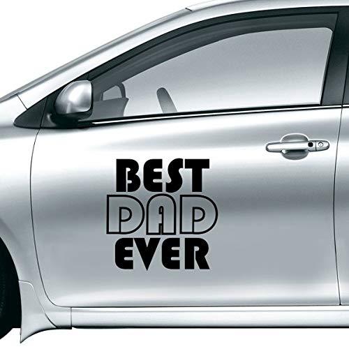 DIYthinker Beste vader ooit Quote Vader Dag Auto Sticker Op Auto Styling Decal Motorfiets Stickers Voor Auto Accessoires Gift