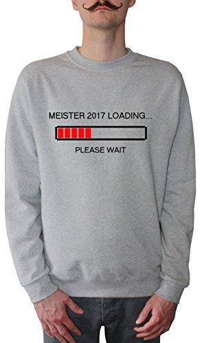Mister Merchandise Homme Sweatshirt Meister 2017 Loading Meisterschule AbschlussPull Sweat Men, Taille : L, Couleur: Gris