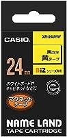 カシオ ラベルライター ネームランド マグネットテープ 24mm XR-24JYW 黄