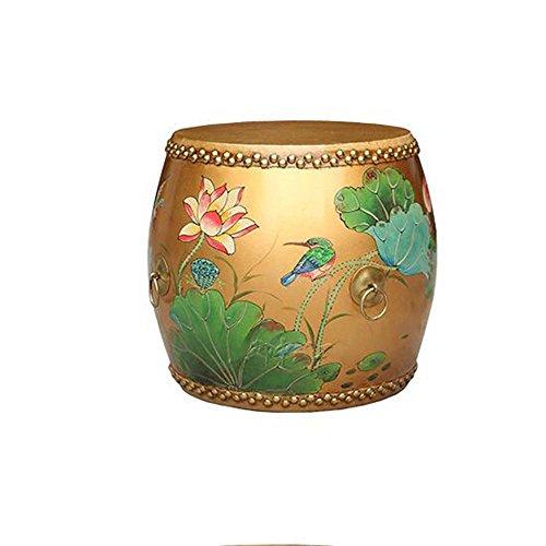 ZHANGRONG- New Chinese Drum Bench Bois de vache solide Changer les selles de chaussures Meubles peints et autres chaises Tabouret de canapé Tabouret créatif (Une variété de tailles, style optionnel) --Tabouret de canapé ( Couleur : 10 , taille : 35cm )
