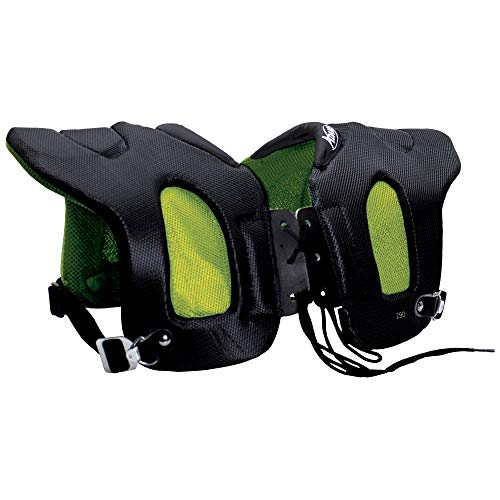 ADAMS USA 29 Fabric Covered Shoulder Injury Pad Black/Neon Green, Adult Regular