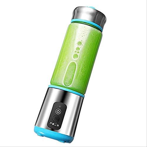 380Ml Portable Juicer Multifunction Cut Mixer USB Charging 6 Blades Blender Juice Cup Fruit Extractors Juice Maker Blue