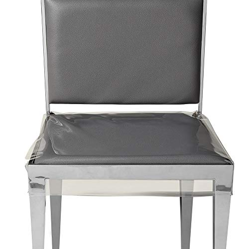 Zipcase 21 inches Bigger Size Dinning Chair Covers/Slipcovers - 4 Pack Stain, Water and Kitty Scratch Resistant Chair Protector with Adjustable Belt Strap for 18