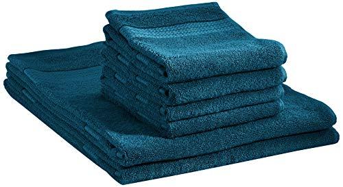 AmazonBasics - Stabile Handtücher - 2 Badetücher und 4 Handtücher, Hydro