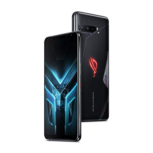 """ASUS ROG Gaming Phone 3-6.59"""" FHD+ 2340x1080 HDR 144Hz Display 6000mAh Battery 64MP/13MP/5MP Triple Camera with 24MP Front Camera 512GB Storage 5G LTE Unlocked Dual SIM (12GB with TwinView Dock 3)"""
