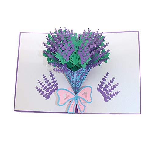 Moligin 3D-pop-up-Karten Blumen-Valentines-Karten Für Ihre Blumenstrauß Grußkarte Jahrestag Muttertag Valentine Geburtstags-Geschenk-weihnachtskarten