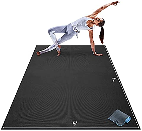 Premium Large Yoga Mat - 7' x 5' x 8mm Extra Thick