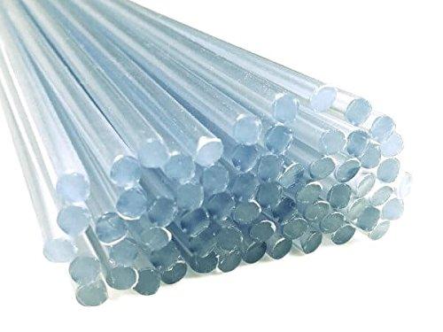 Kunststoffschweißdraht PVC-U Hart 3mm Rund Transparent 25 Stäbe