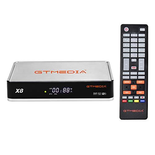 Festnight Receptor de TV X8 DVB-S2 S2X Set Top Box HD 1080P Reproductor de Video Soporte WiFi Integrado Decodificador de Rollo automático Biss