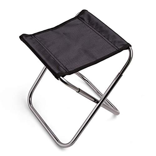Tabourets Cuisine Pliante en Aluminium Aviation Chaise De Pêche Pliante en Plein Air Banc De Train Tabouret De Pêche Mazar (Color : Black, Size : 200g)