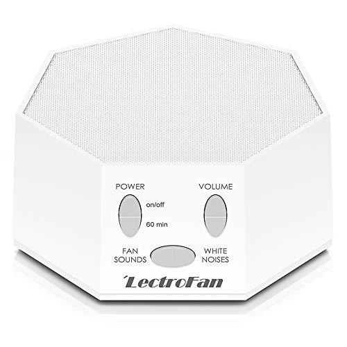 Adaptive Sound Technologies LectroFan Premium White Noise Sound Machine with 20 Unique Non-Looping Fan and White Noise Sounds and Sleep Timer, White, unscented, 1 Count
