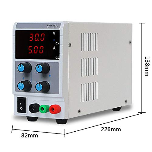 HAHMHO Bench Power Supply DC Power Supply Variable 0-10A/0-30V| Portable Adjustable Switching Regulated Power, 3 Digit LCD Display,for Lab/Electronic Repair/DIY/Aging Test, 110V/ 220V