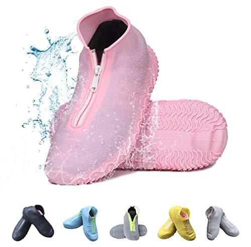 Vorgelen Wiederverwendbare Silikon Wasserdicht Überschuhe rutschfeste Schuhüberzieher Tragbarer Silikon Regenüberschuhe Für Regen Schneetag Schlammige Straßen Für Kinder Damen und Herren