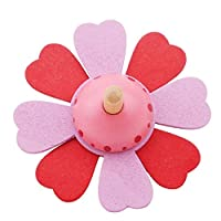 おもちゃ 子供のための子供の木のジャイロおもちゃ子供大人の救援ストレスデスクトップのスピニングトップのおもちゃ子供の誕生日新年の贈り物 (Color : 赤)