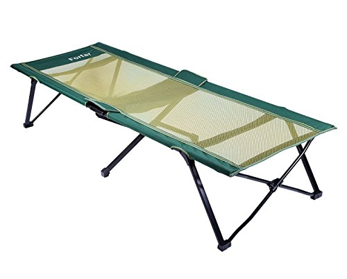 Forfar Camping Bed Portable Lightweight Foldable Bed Folding Camping Bed and Cot 75 Inch-Green