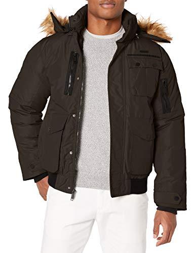 Rocawear Men's Outerwear Jacket, Paprika Bomber Dark Olive, XL