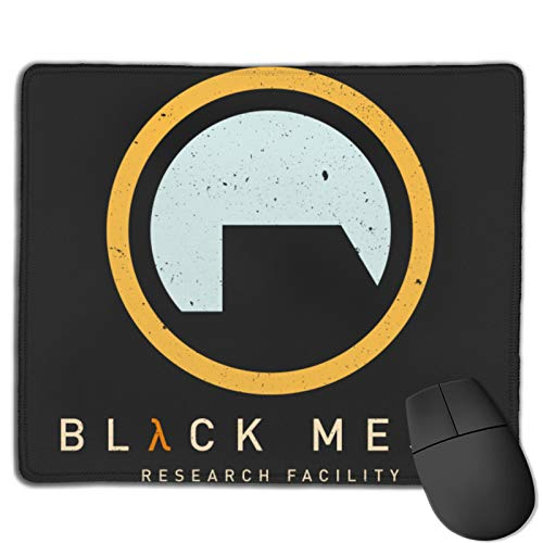 Gaming Mouse Pad Black Mesa Research Facility - Half Life Non-Slip Rubber Base Mouse Pads for Computers Laptop Office 12.01'X9.84'X0.02' Inch