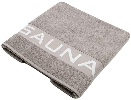 ZOLLNER Saunatuch 100% Baumwolle, 500 g/qm, 80x200 cm, grau