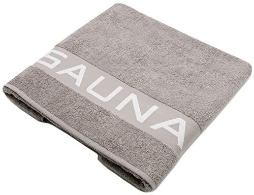 ZOLLNER Asciugamano Sauna, 80x200 cm, 100% Cotone, 500g/mq, Grigio