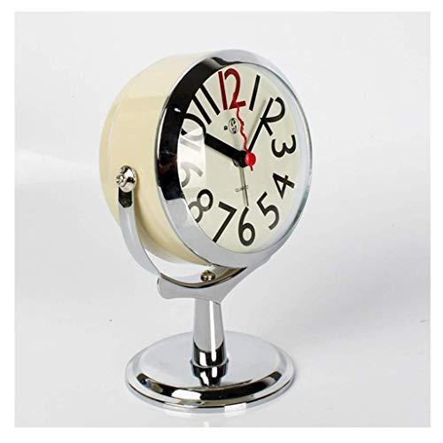Yxxc Reloj Retro * Reloj de Soporte Reloj de Mesa para decoración de Sala de Estar Dormitorios Baño Relojes de Escritorio pequeños Reloj Despertador analóg