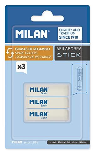 Milan Stick, Recambio para afilaborra, Tamaño Único, Blanco