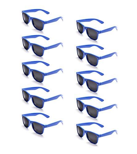 ONNEA 10 Paare Party Favors Sonnenbrille Set Sommer Kinder Damen (Blau 10-Pack)