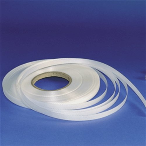 Spanband voor pijpleidingschild, wit, 50 cm lang, rol 50 m in kartonnen doos